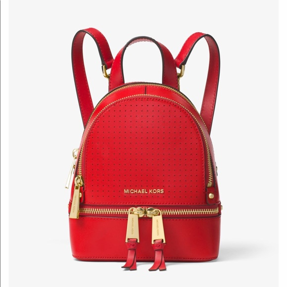 bc97efc45a97 Michael Kors Rhea Mini Perforated Leather Backpack